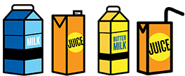 Cartons and Juice Boxes